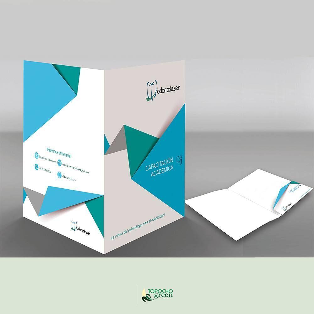 Carpeta Folder Para Dpto De Capacitación Odontológica Carpetas Corporativas Papeleria Corporativa Carpeta