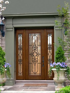 Superior One Panel Full Light Salento Front Door With Sidelites