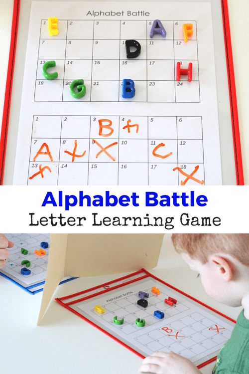 Easy And Fun Hands On Game Alphabet Battle Way For Preschoolers To Work Learning Their Letters