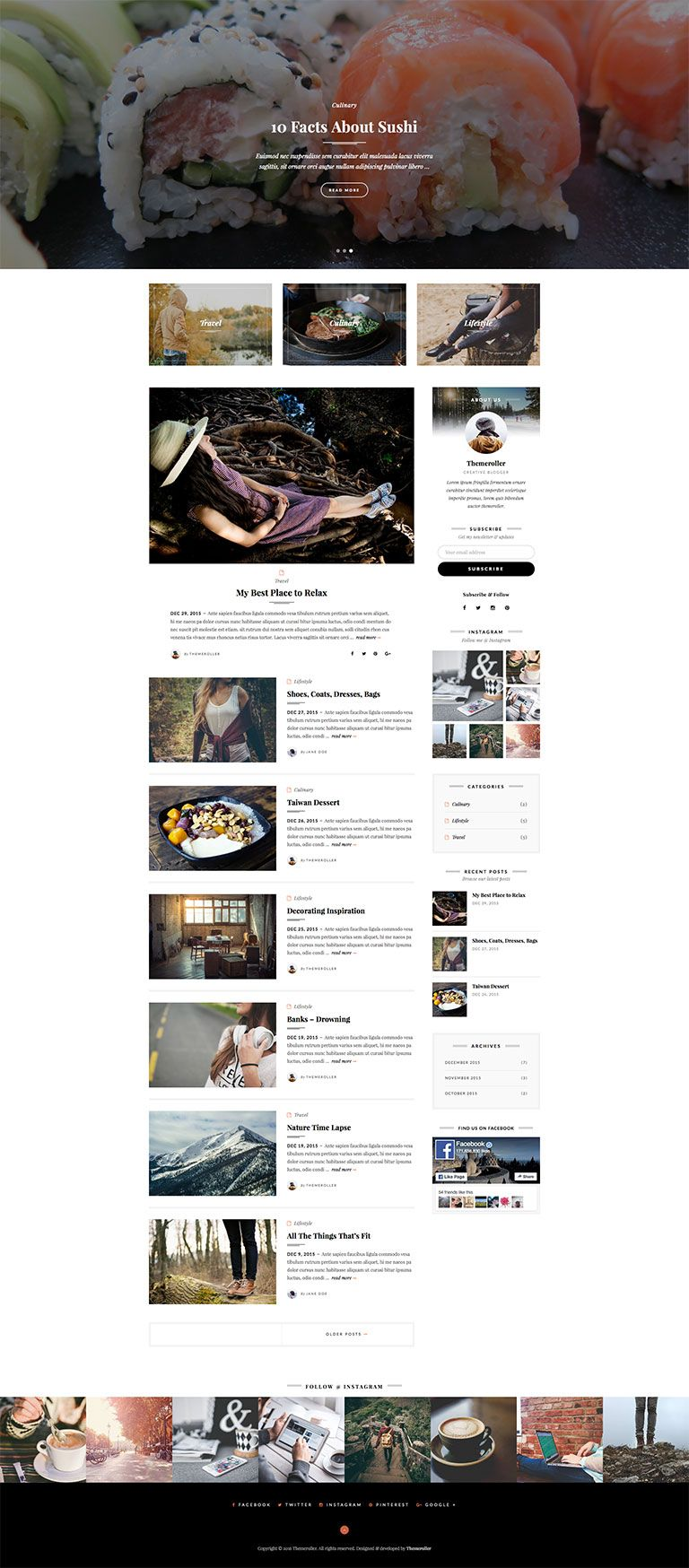 Silver Blog is a simple, clean and responsive blog theme perfect for your personal blog or magazine blog.