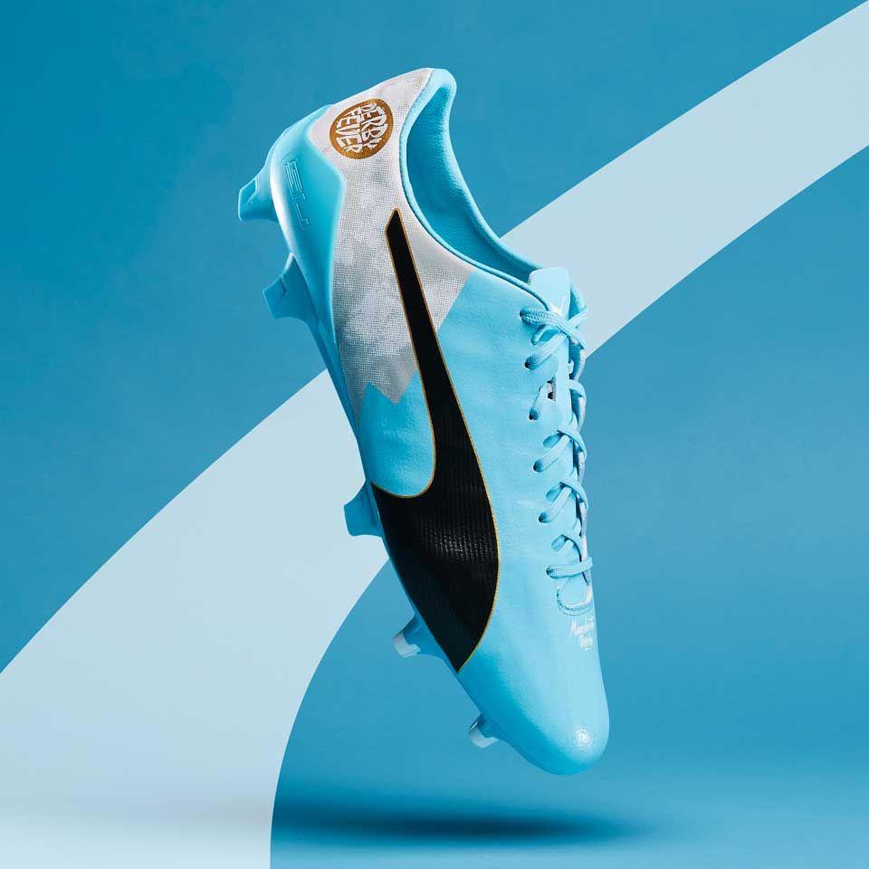 Sepatu Bola Puma Evospeed 17 Sl S Kun City Df Fg Bluefish White