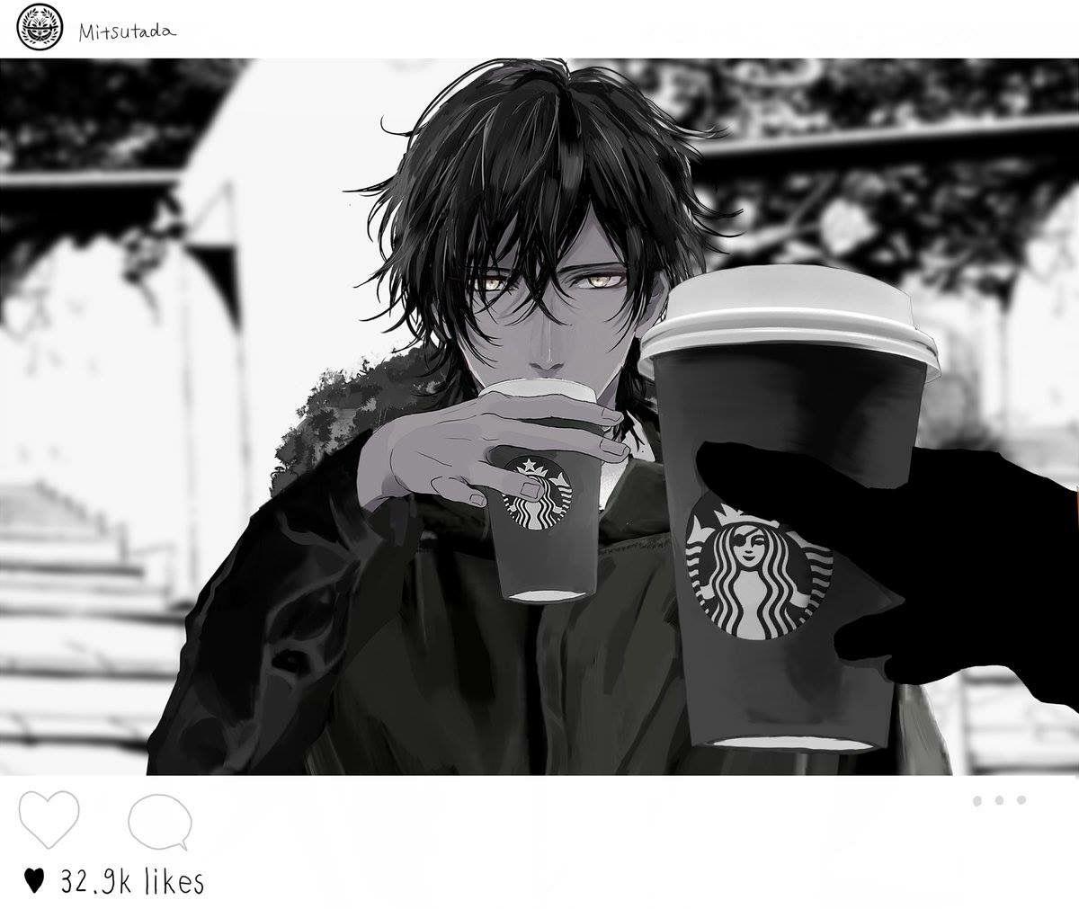 Kara Chan With Starbucks X3 Hmm Anime Anime Guys
