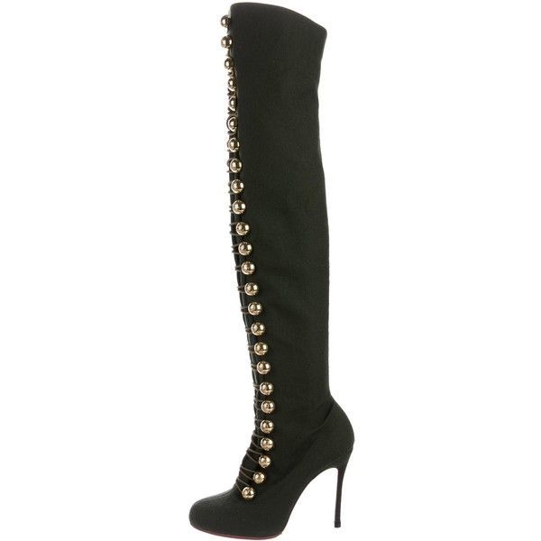 Christian Louboutin Woven Over-The-Knee Boots browse online TB8xd3mQD8