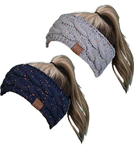 HW-6033-2-3176 Headwrap Bundle – Confetti Navy   Confetti Dove Grey (2  Pack)  e9fd3138bf53