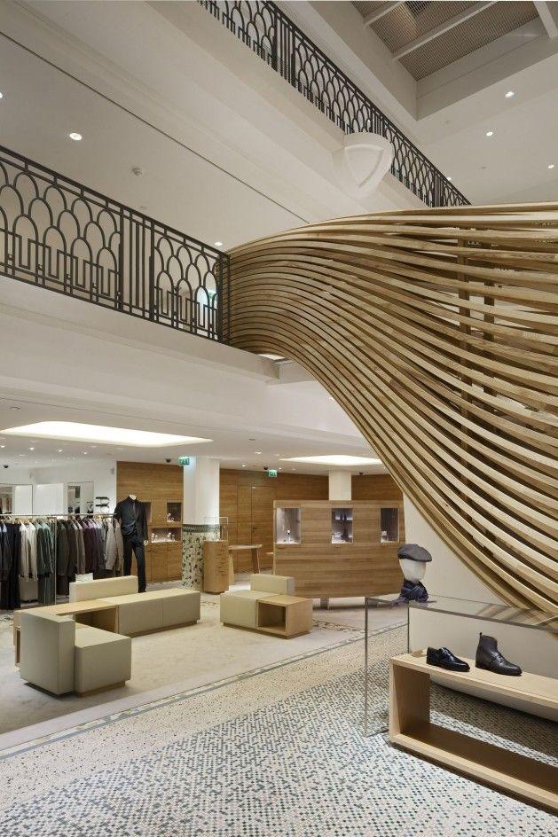 hermes boutique shop paris decoplus parquets blog crush wood bois design fashion. Black Bedroom Furniture Sets. Home Design Ideas