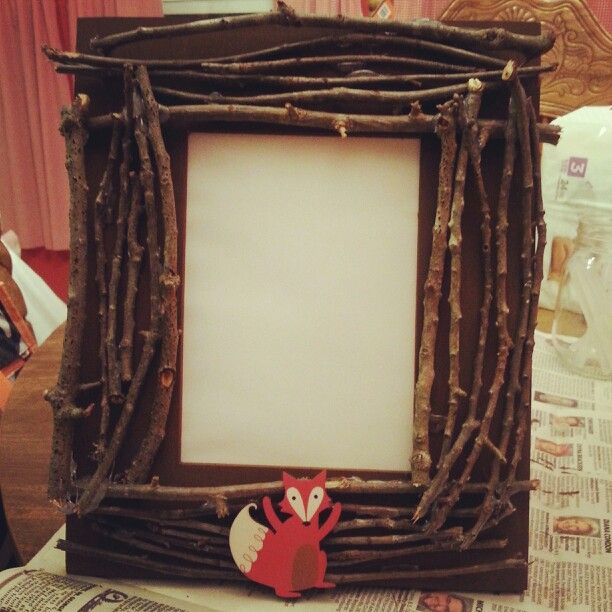 Fox diy picture frame | My own Projects | Pinterest | Foxes, Craft ...