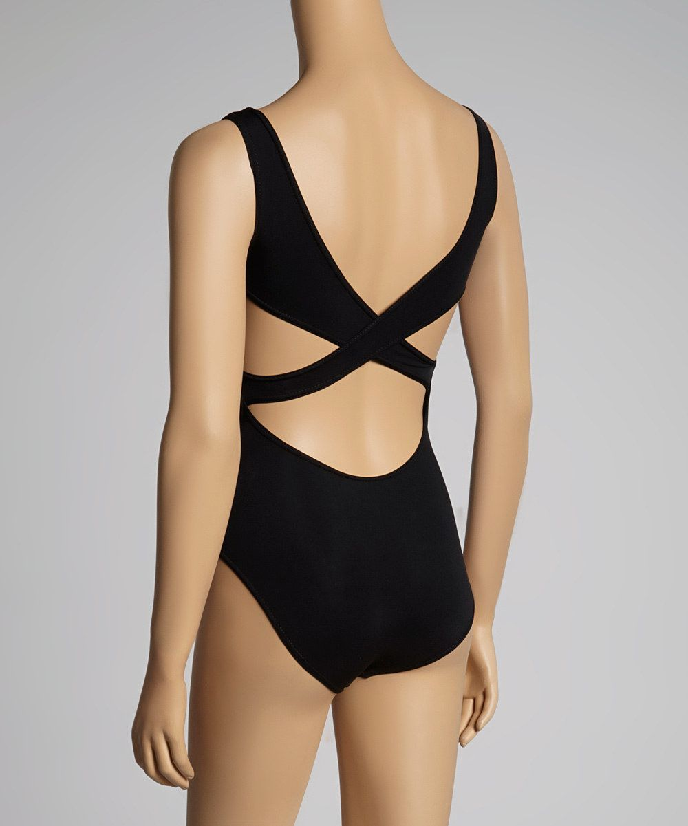 lace up in best place reliable quality This Grishko Black Cross-Back Leotard by Grishko is perfect ...