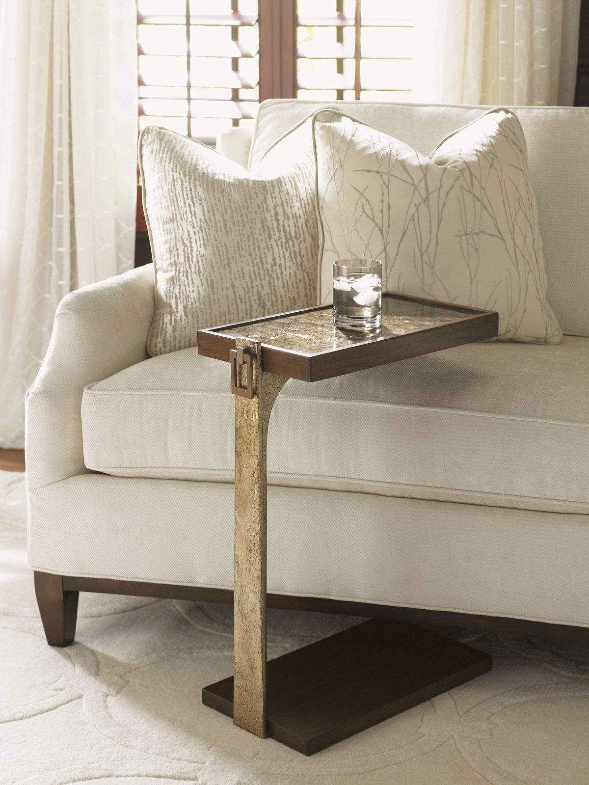 Tower Place Orland Chairside Table Lexington Home Brands