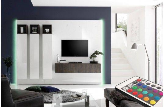 Meuble Tv Mural Design Lumineux Alida
