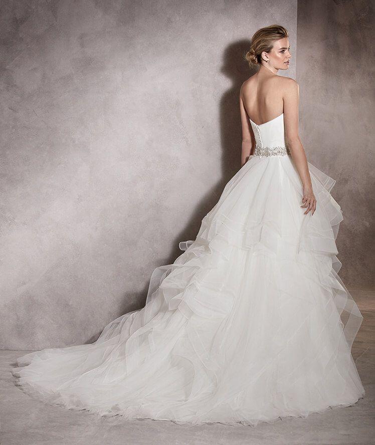albania - vestido de novia princesa, en tul y nylon, escote corazón