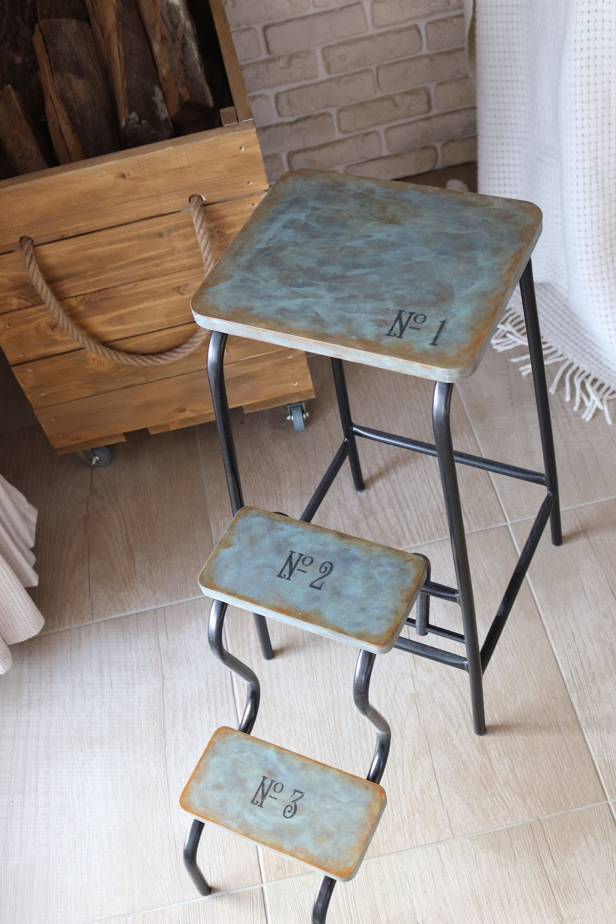 Bedside Step Stools For Adults: Step Stool Adult, Industrial Stool, Plant Stand, Blanket