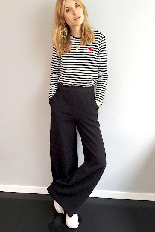 Get Pernille Teisbaek's Striped Weekend Look