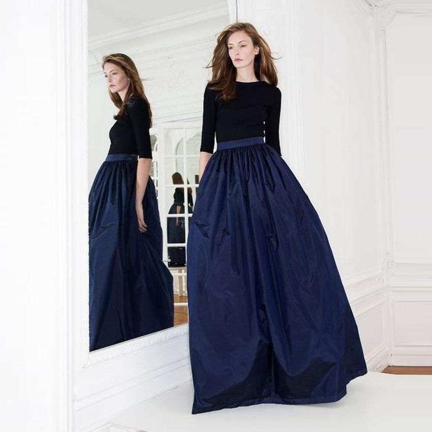 Navy Blue Ball Gown Prom Dresses 2017 Simple Half Sleeves Velvet ...