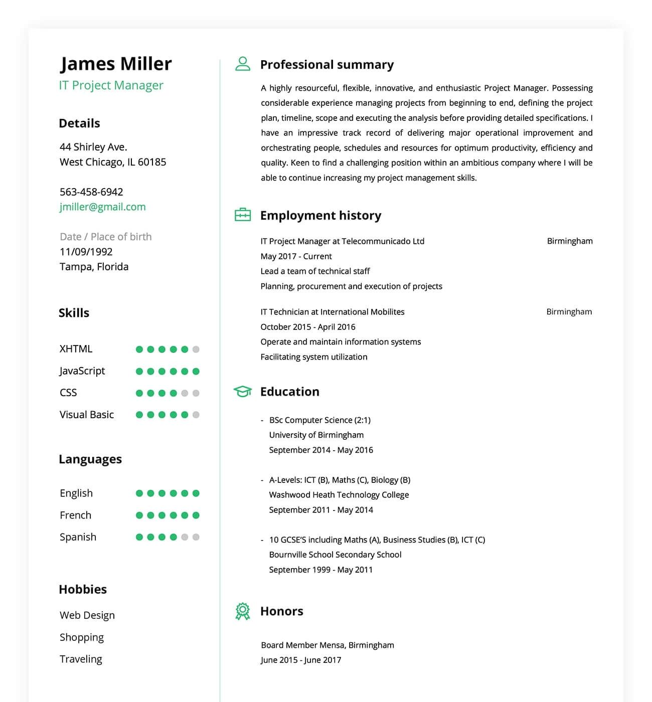 Making A Resume Online