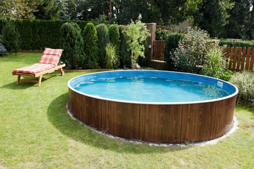 14 Great Above-Ground Swimming Pool Ideas | Ground pools, Vintage ...