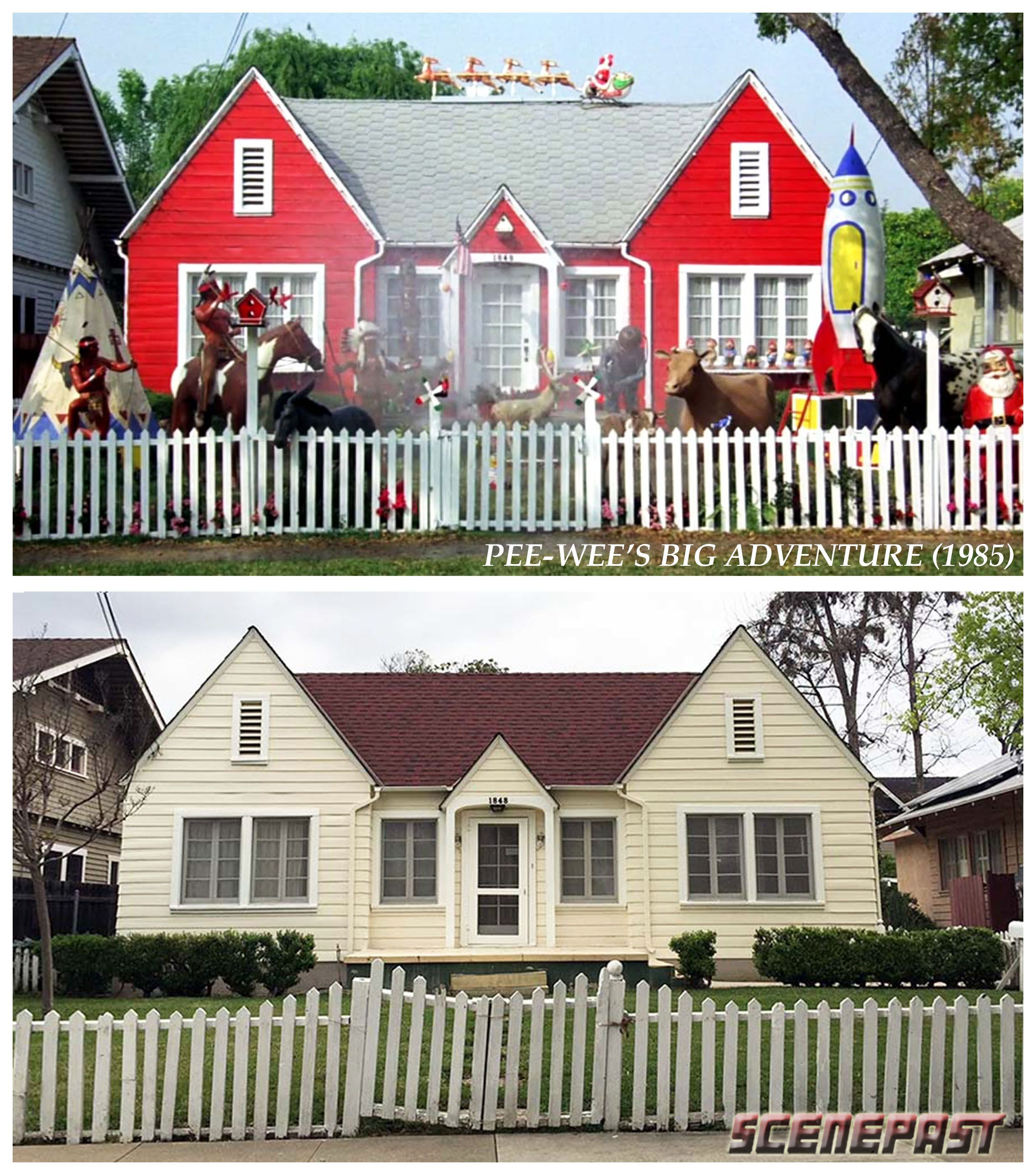 Here's a fun ScenePast then & now from the nationwide