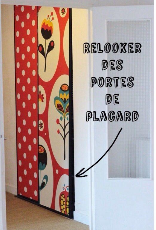 Relooker Portes Placard Stickers Déco Porte Placard