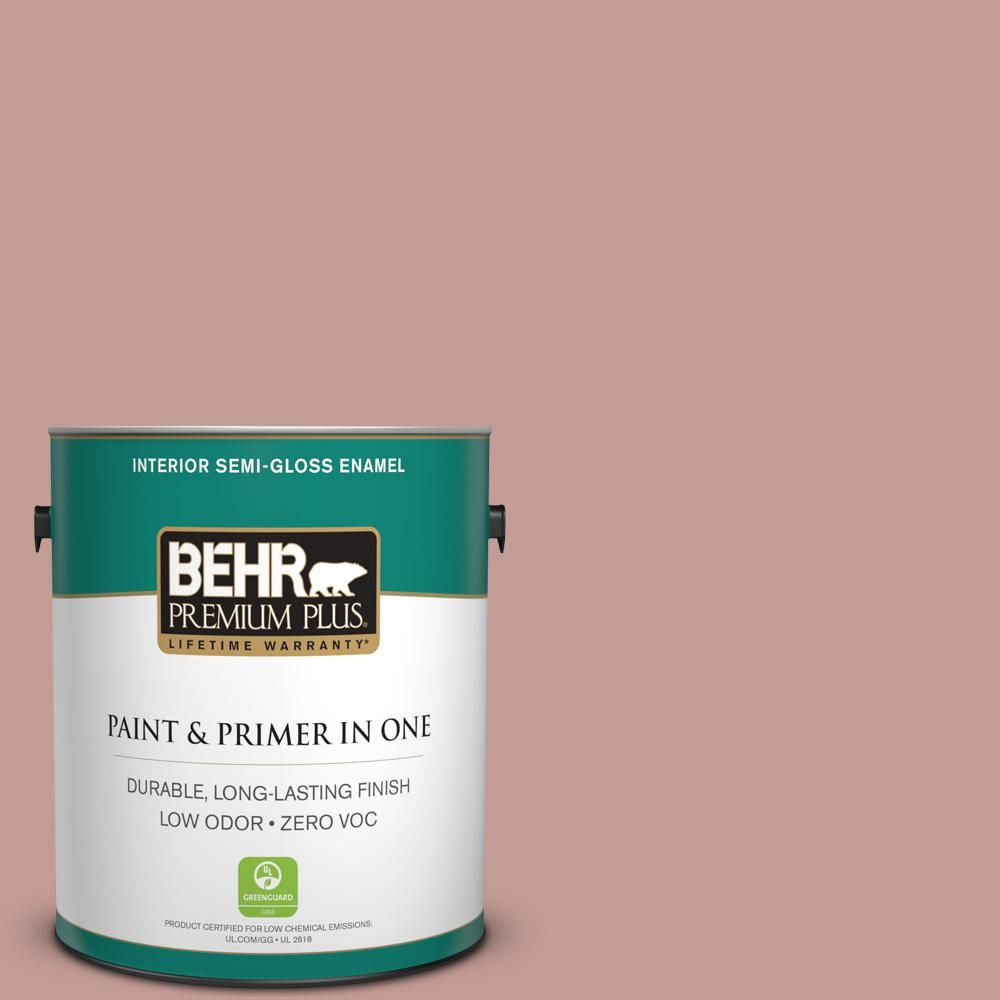 BEHR Premium Plus 1 Gal S170 4 Retro Pink Semi Gloss