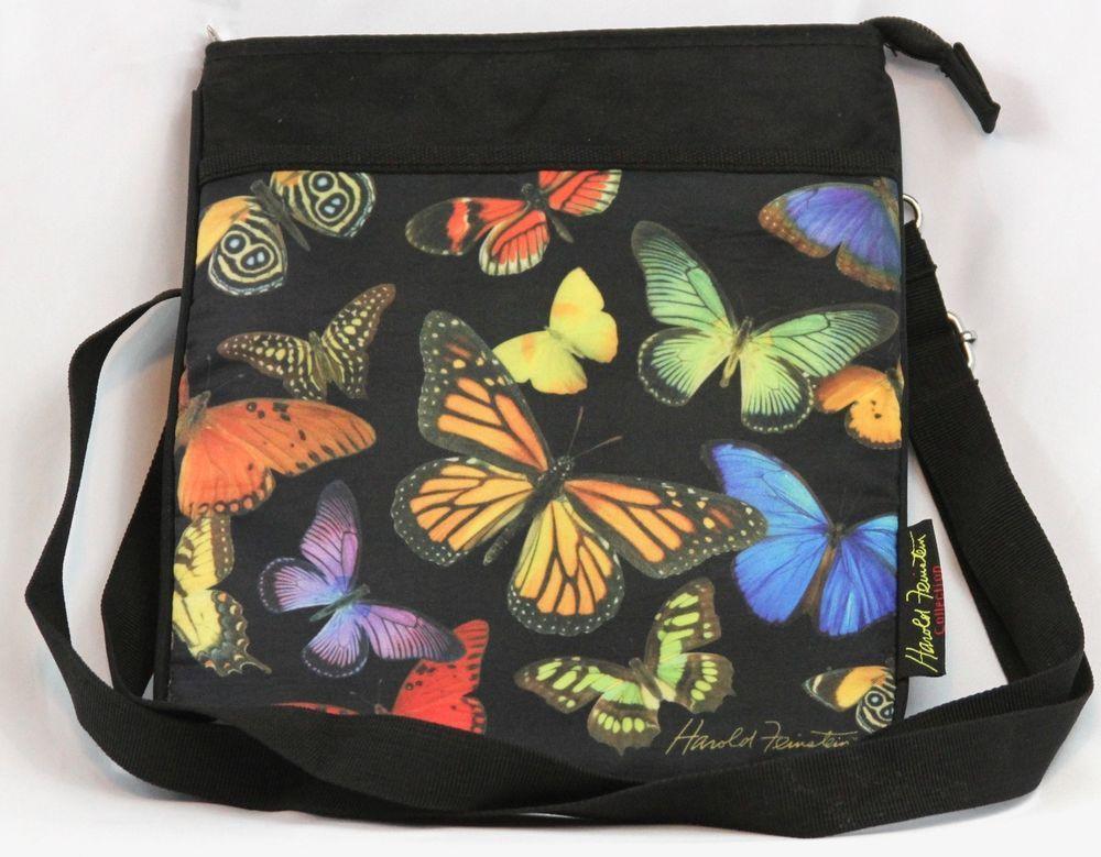 Harold Feinstein Crossbody Shoulder Handbag Purse Organizer Erfly Black Haroldfeinsteincollection Messengercrossbody