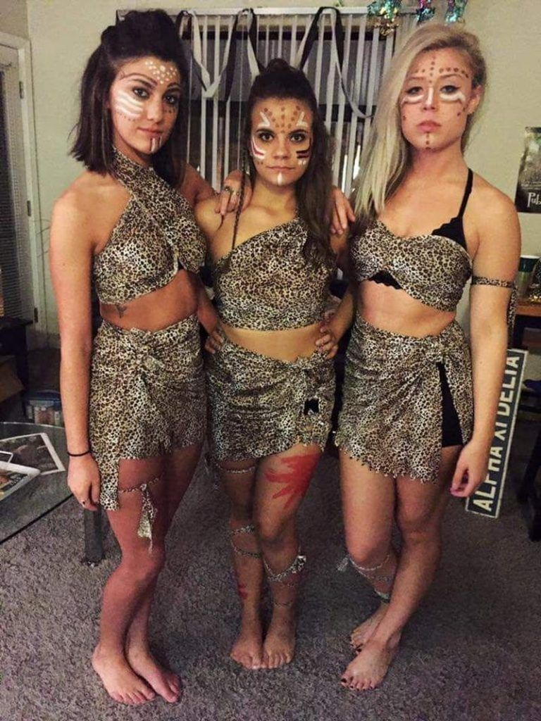 The ULTIMATE COLLEGE HALLOWEEN COSTUMES FOR 2020 & 2021, cave girls
