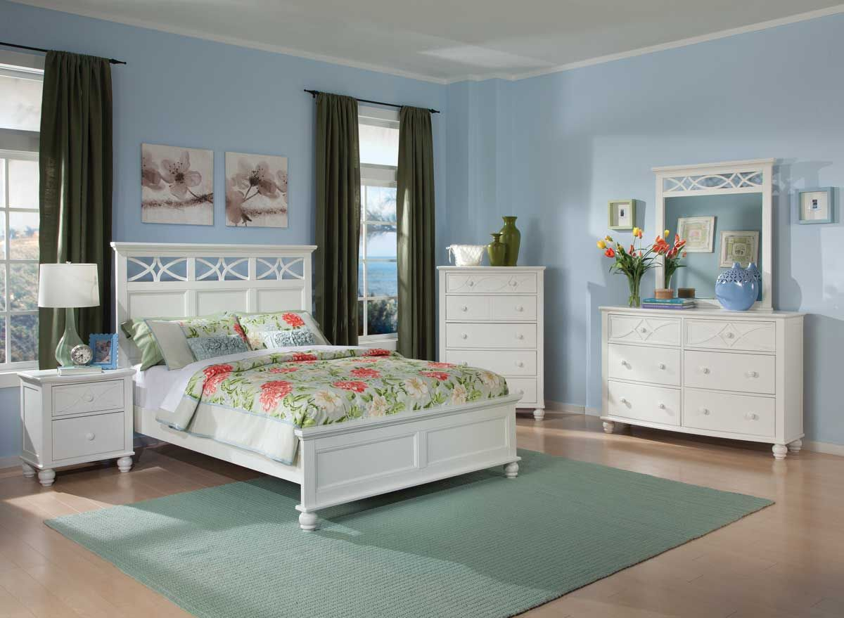 Homelegance w sanibel bedroom set in white homelegance