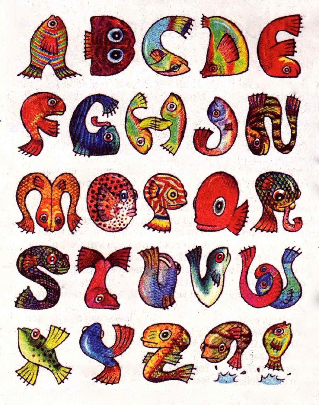 Vissenalfabet Fish Alphabet By Frits Jonker