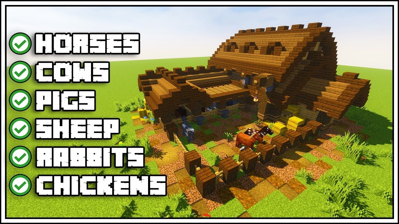 Minecraft Ultimate Barn Tutorial Minecraft houses