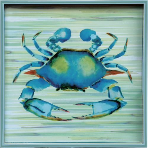 "Blue Crab 15"" Square Tray:"