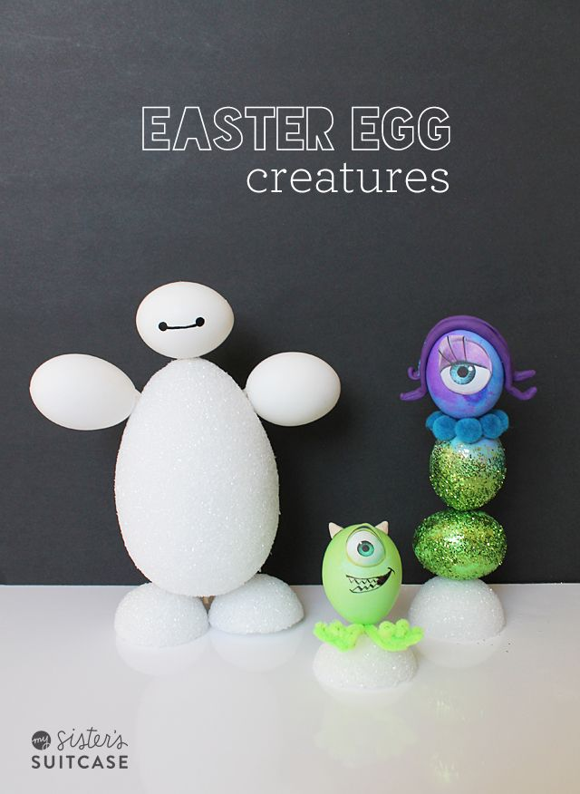 fun disney easter egg creature ideas on my suitcase paaseaster - Easter Egg Ideas