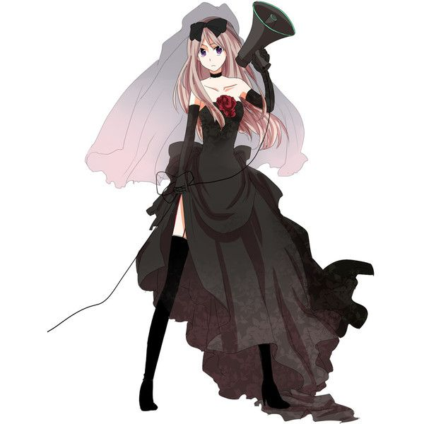 Anime wedding dress black