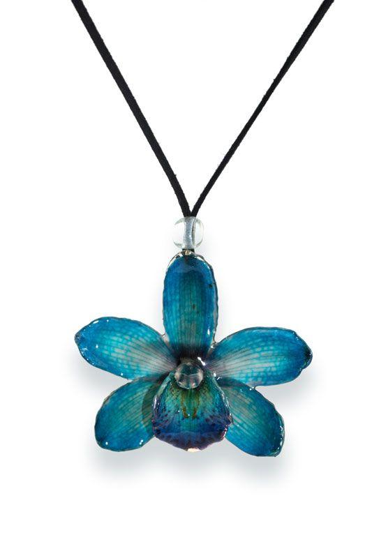 Blue Lg Cymbidium Shopstem Turquoise Necklace Blue Cymbidium Orchids