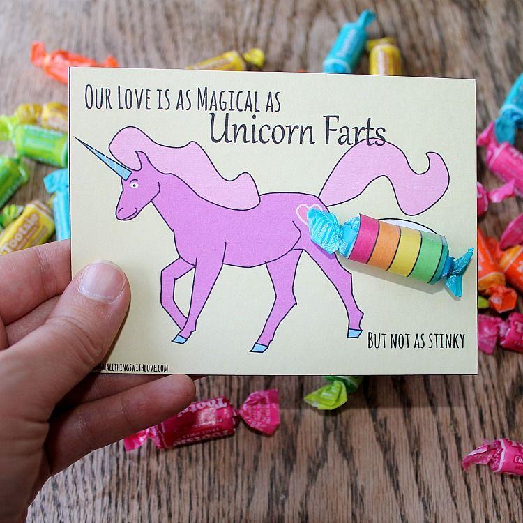 Unicorn Valentines Free Printable – Free Printable Funny Valentine Cards