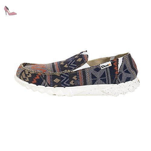 Dude Shoes Men's Farty 2 Incas Blue Slip On / Mule UK7 / EU41 z1sh7x