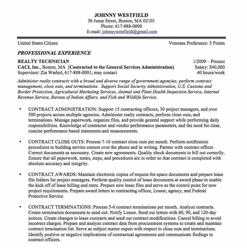 25 Federal Job Resume Template in 2020 | Federal resume ...
