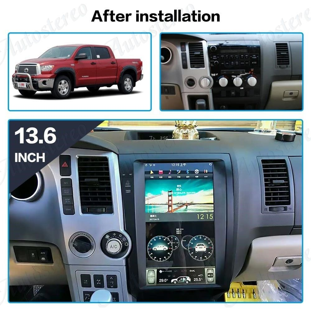 Tesla Vertical Style Android Car Radio for Toyota Tundra