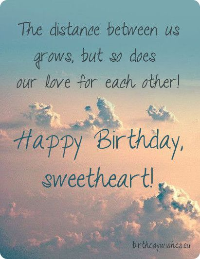 Long Distance Relationship Birthday Quotes: Top Happy Birthday Wishes And Cards Long Distance Love