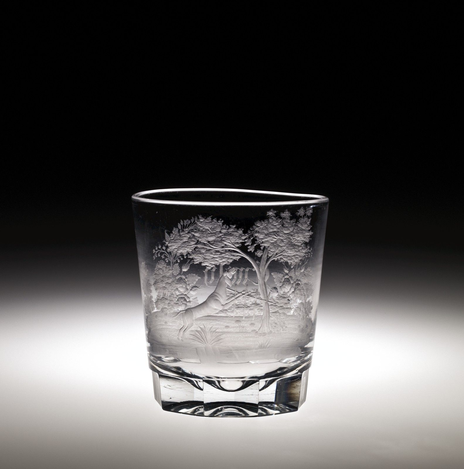 American Glass Tumbler By New England Glass Company About 1860