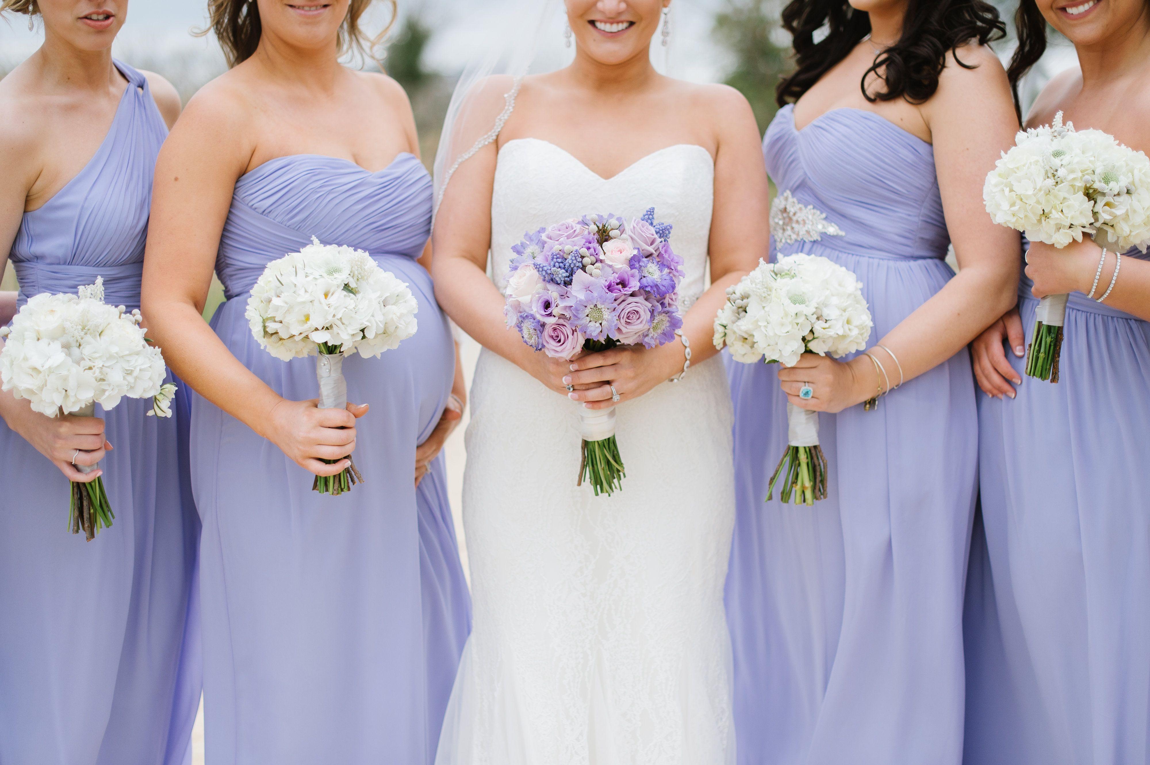 Donna Morgan Iris Bridesmaid Dresses Wedding Purple Bridesmaids