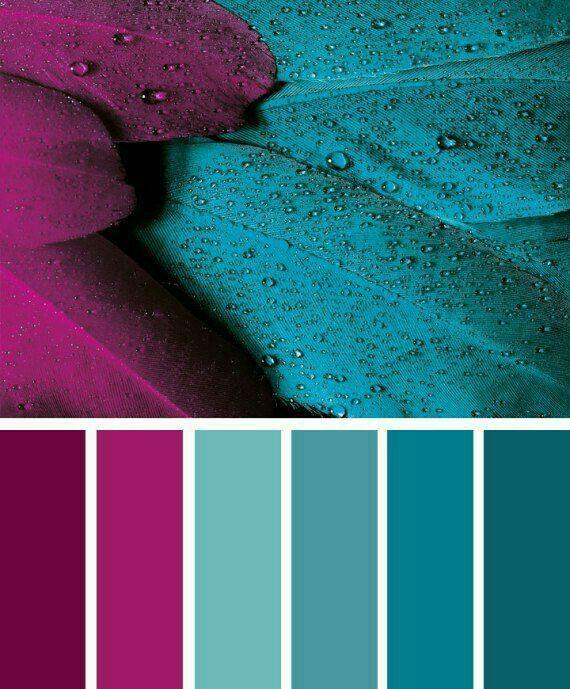 Diese Farbpalette Mit Verschiedenen Türkis-Tönen Sowie