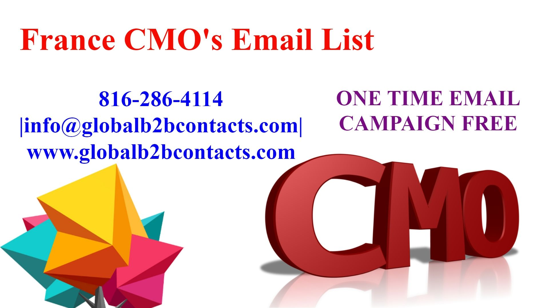 France CMO's Email List Business emails, Buy email list