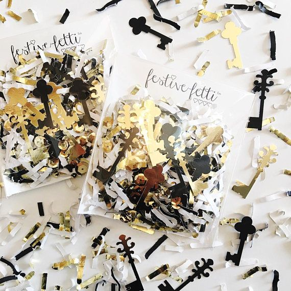 Housewarming Gift Ideas Key Confetti Our First Home Gift Black