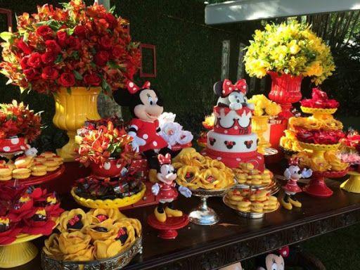 Jardim da Minnie Festa menina Festa minnie vermelha, Festa minnie e festa da Minnie Mouse -> Decoraçao De Festa Da Minnie Vermelha Simples