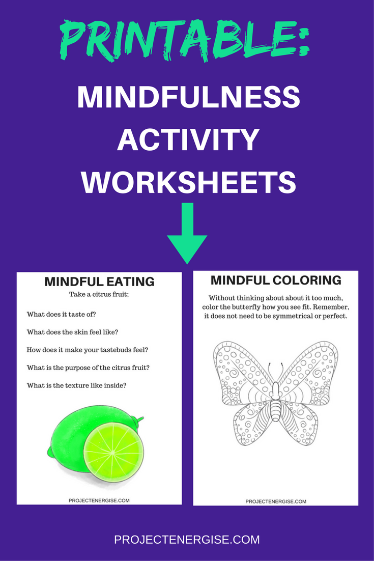 Mindfulness Worksheets | Counseling | Pinterest | Mindful ...