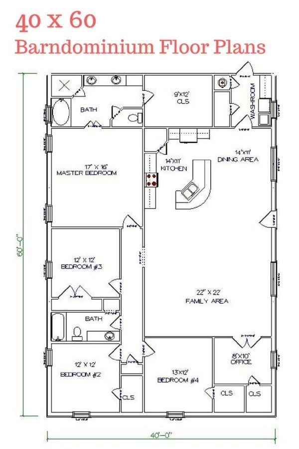 Best 25 Barndominium Floor Plans With Various Type Size Picture Pole Barn House Plans Barndominium Floor Plans Barn House Plans