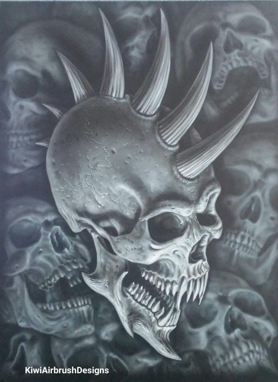 Demon skull by kiwi terry airbrush designs wallpaper - Devil skull wallpaper ...