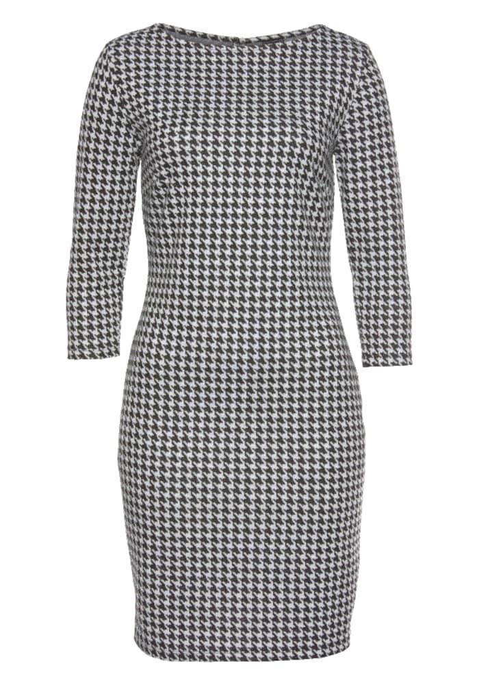 LAURA SCOTT Kleid Damen, Schwarz / Weiß, Größe 46 #weißekleiderkurz