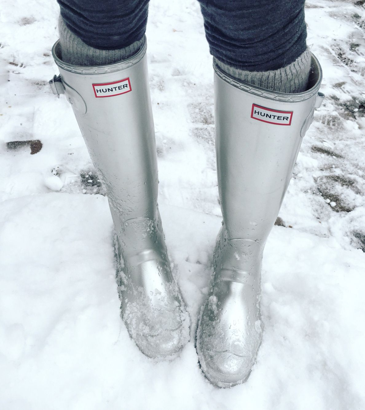 Hunter boots outfit winter
