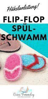 Häkelanleitung Flip Flop Spülschwamm Handarbeiten Crochet