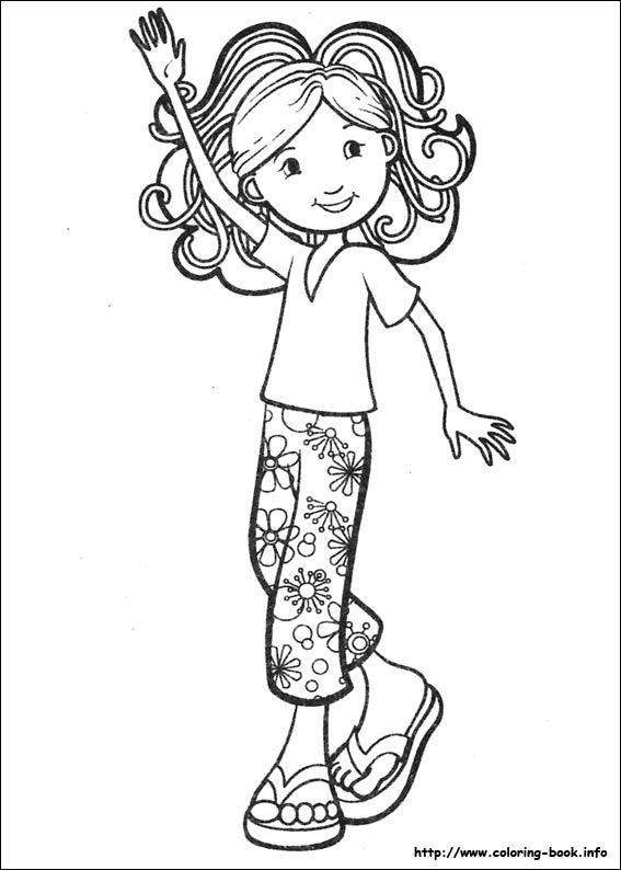 Groovy Girls coloring picture | Groovy girls | Pinterest | Malbücher