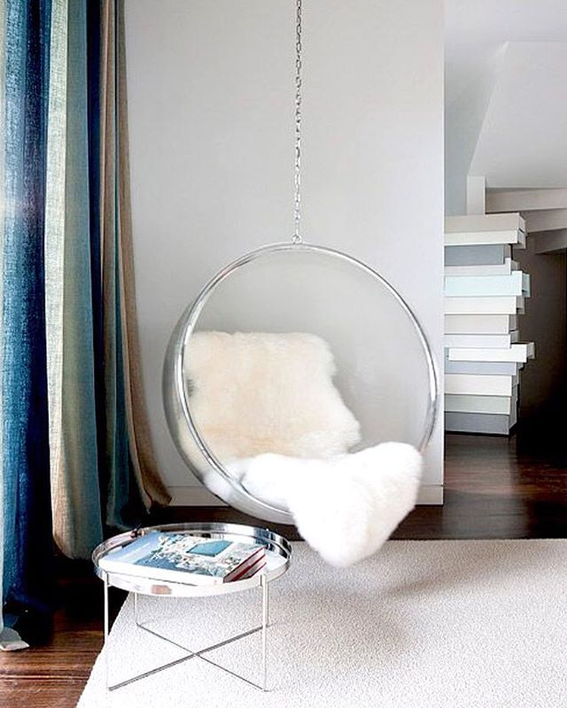 Add Some Personality To Your Space With A Hanging Chair New On The Blog Heckerguthrie Design Detail Bedroom Hanging Chair Hanging Egg Chair Swinging Chair